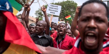 Ghana First Front demonstrated against the US-Ghana military deal in March 2018