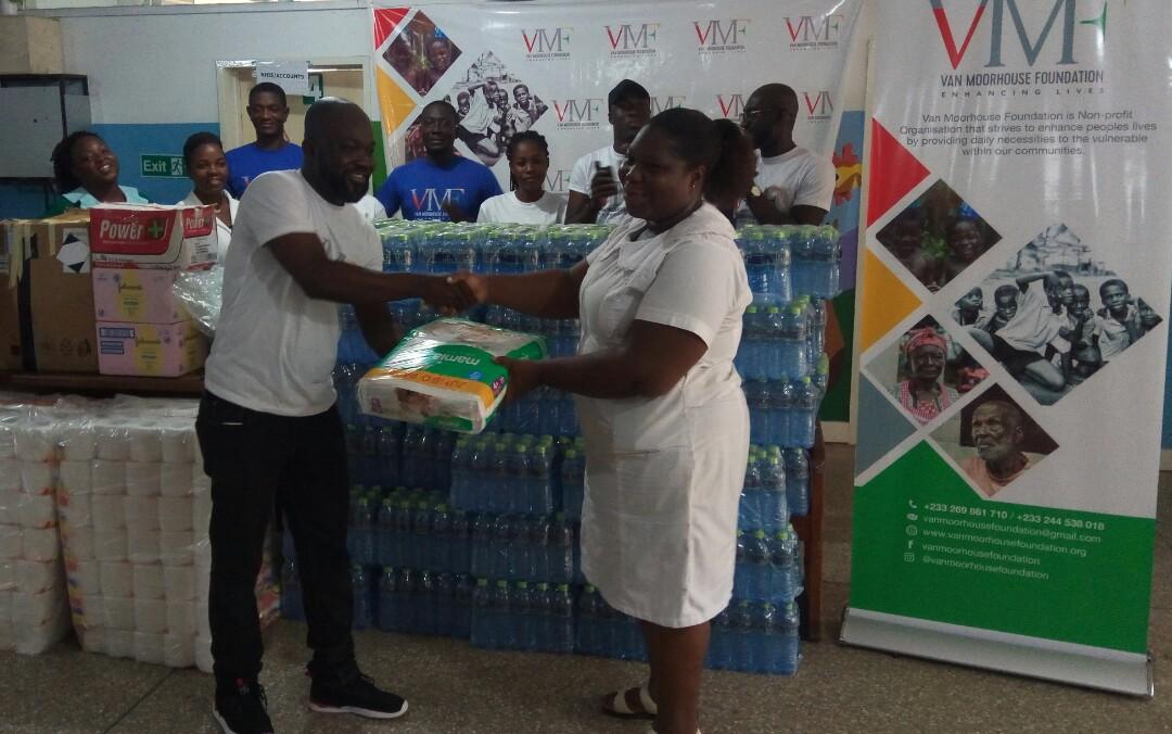 NGO donates assorted items to Korle Bu Child Health Department