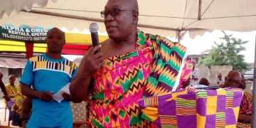 The Chairperson for the 2018 Agbamevorza (Kente festival) of the people of Agortime-Kpetoe, Mr. Eddie Aportey