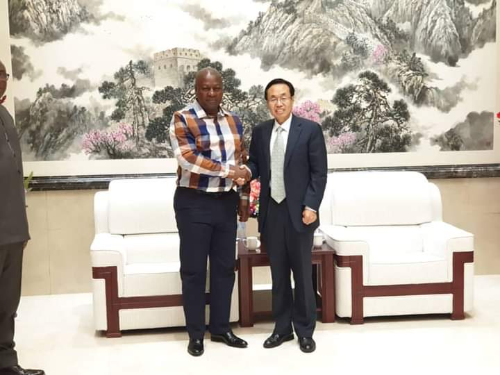Former President Mahama confers with Chinese Ambassador