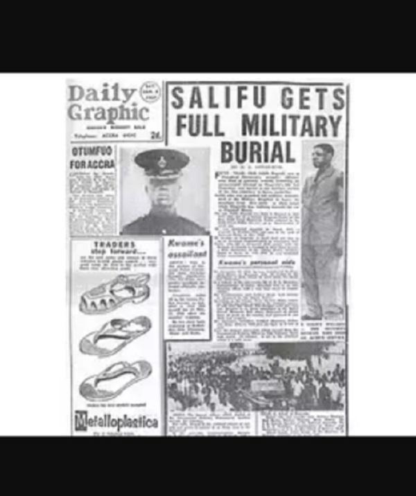 A daily Graphic Publication of the death of Salifu Dagarti.