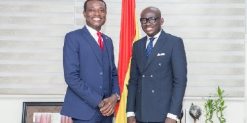 Special Prosecutor Kissi Agyebeng and Attorney General Godfred Dame