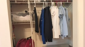 Organized Closet, Kid's Closet, School Clothes in Closet, Organized School Clothes, School Clothes Organization