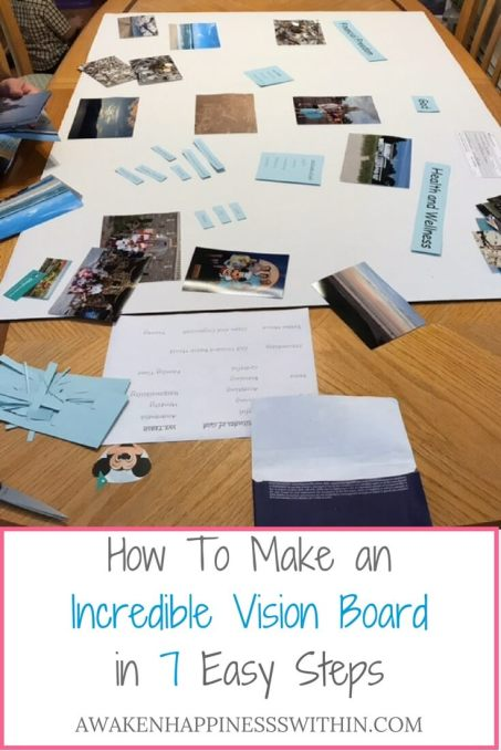 Vision Board, Easy Vision Board, Vision Board in 7 Steps, Happiness