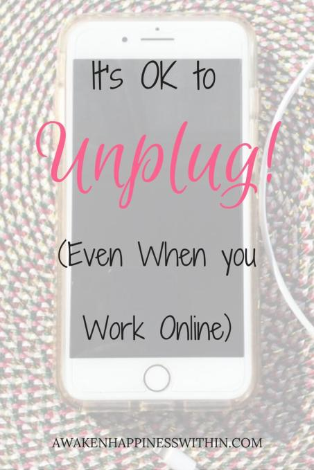 Unplug from Technology, Take a Break from Technology, Unplug from the Internet, Unplug from Social Media, Take a Break from the Internet