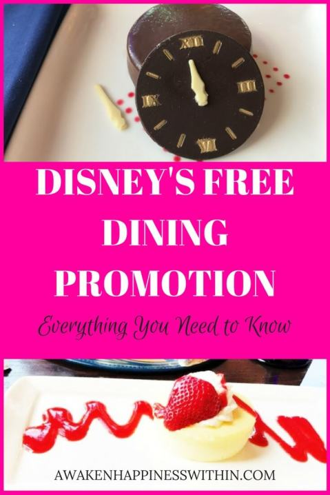 Everything you need to know about Disney's free dining promotion.