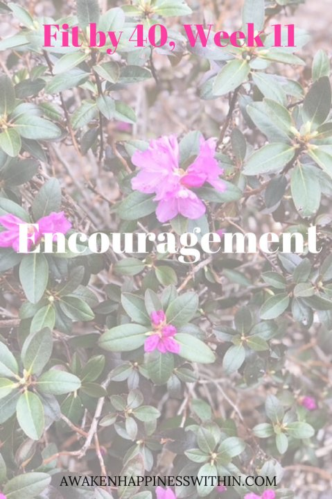 Encouragement keeps motivation high and keeps you working toward your goals.