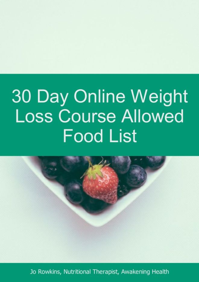 thumbnail of 30 Day Online Weight Loss Course Allowed Food List