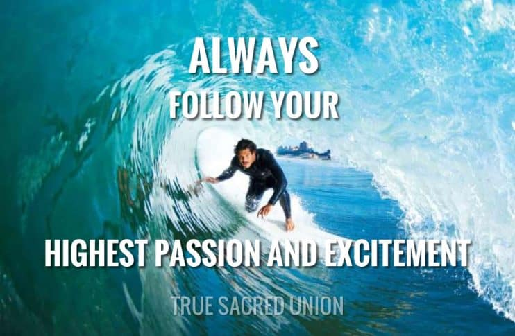 Following Your Highest Excitement and Passion