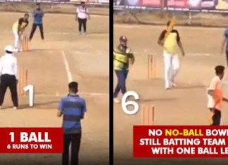 Last Over last ball Need Six run bowler ball six wide in last ball