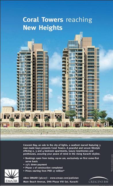 Coral Towers Emaar Karachi Booking Open