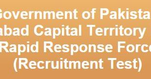 Rapid Response Force jobs in Islamabad