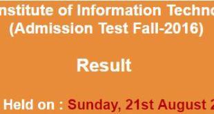 COMSAT Admission NTS Test result 2016