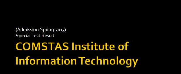 Comsats University Islamabad Admission Test Result 2016