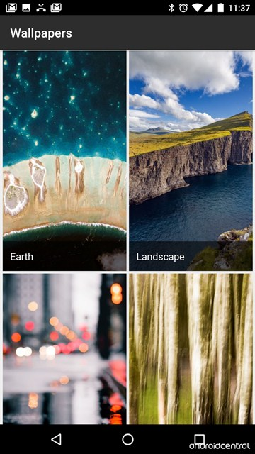 Google's official Wallpapers app