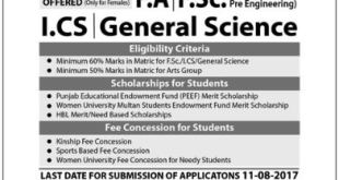 Women University Multan (WUM) Admissions 2017