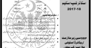 State Bank of Pakistan SBP Merit Scholarship Scheme 2018-19