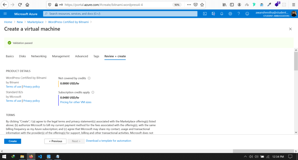 Host WordPress website on Azure and Connect to Custom Domain (3)-min