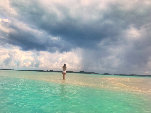 Sand Bar in the Bahamas