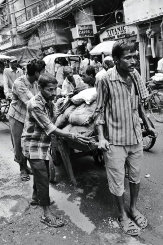 Hard working people in Delhi, India 2013.