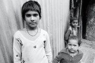 Some children in a slum I stayed in, Indian 2013.