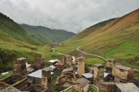 Looking down a Georgian valley, 2014.
