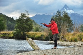 Fly fishing in Patagonia, Kevin has already dreamed of this, 2015.
