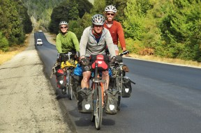 Cycling with friends in Argentina, 2015.