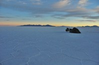 Beautiful sunset in solitude.