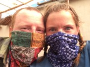 Facemasks ready for the wind and dust!