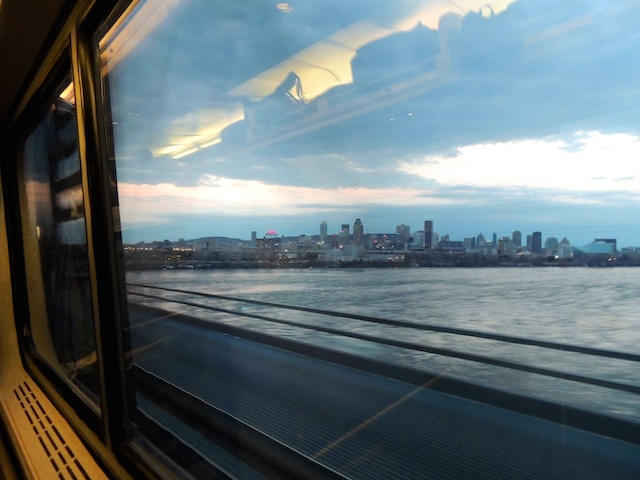 City skyline from the train.