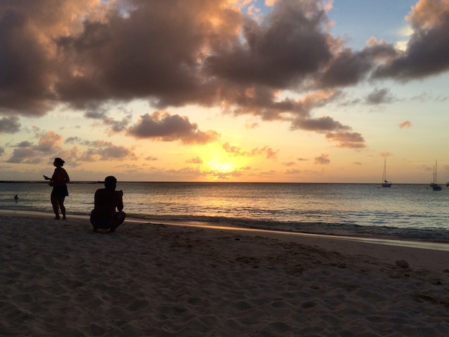 Barbados has amazing sunsets.