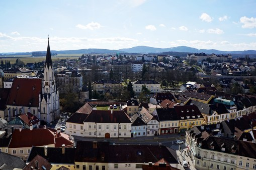 The Town of Melk from the Abbey