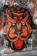 face graffiti Melbourne