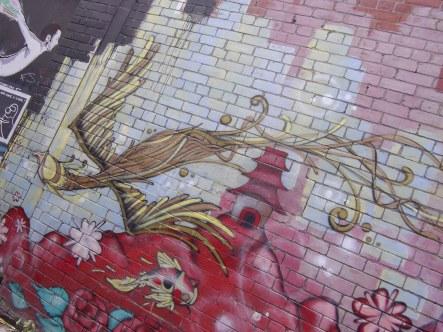 Bird graffiti melbourne
