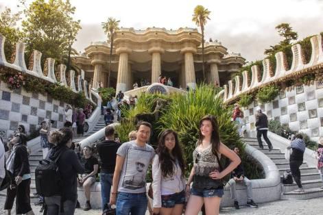 Jan, Aranza, and I in Barcelona!