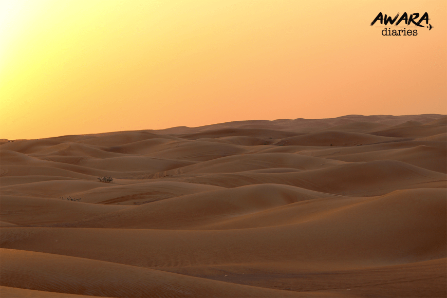 Sunset in the Sand dunes!