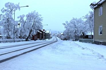 Snowy roads of Kiruna