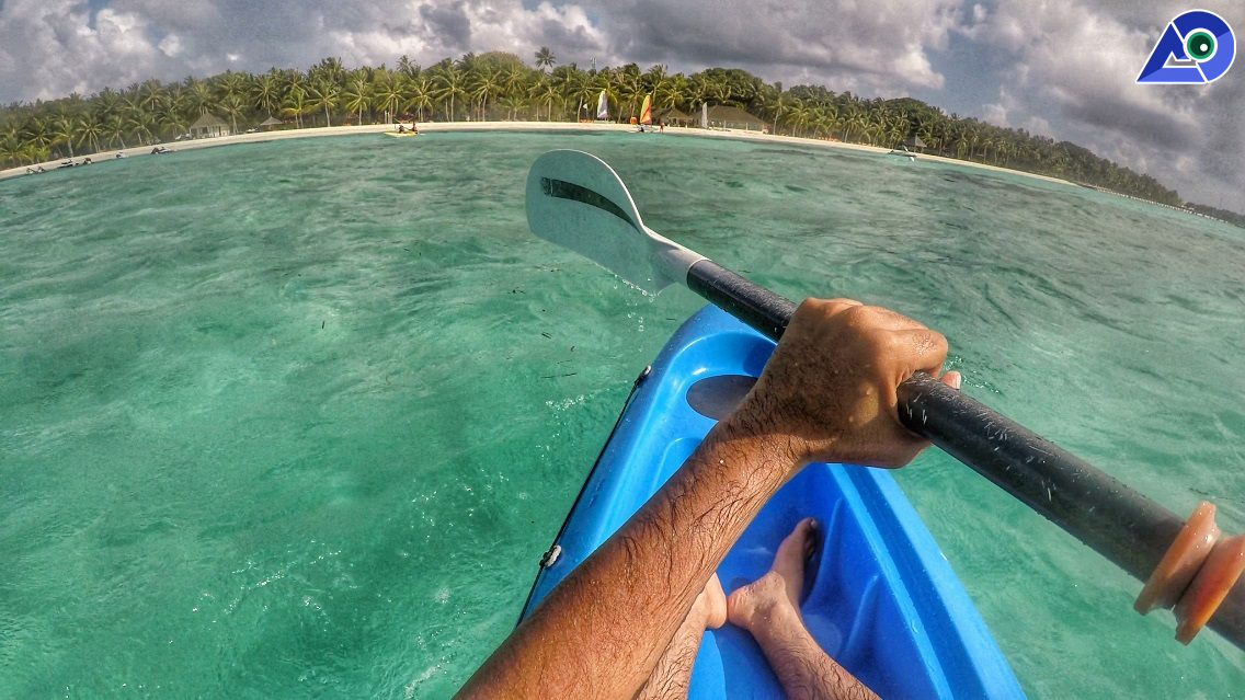 Kayaking at Club Med Kani Maldives