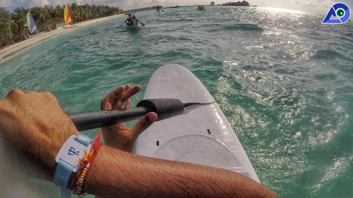 Paddleboarding at Club Med Kani Maldives