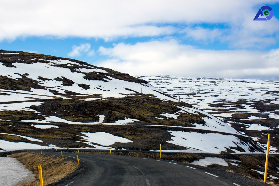 Roads in West Fjords, Iceland