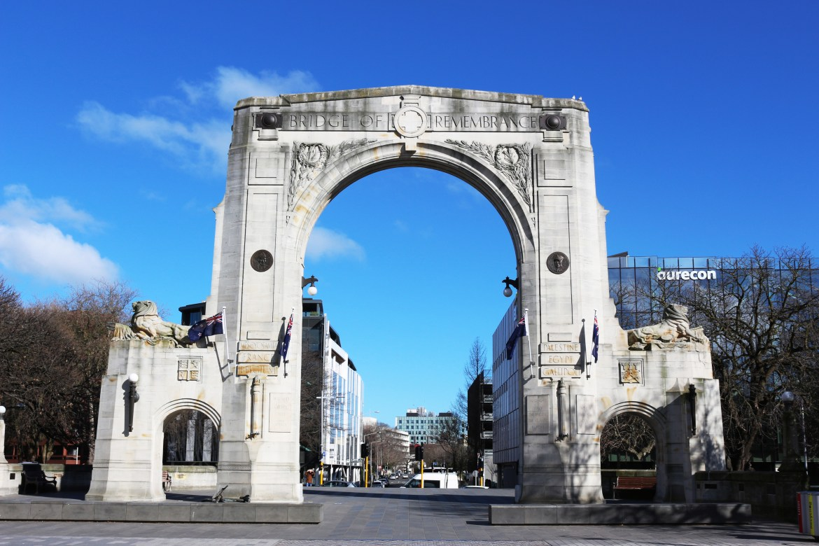 Bridge of Remembrance | Christchurch Attractions