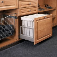 Hamper Bottom Mount with Wire Bins
