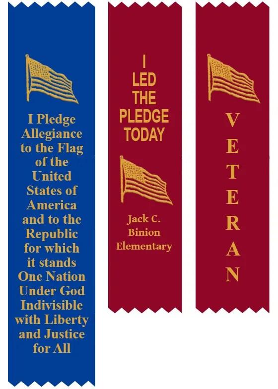 Pledge Allegiance Veterans Day Ribbon