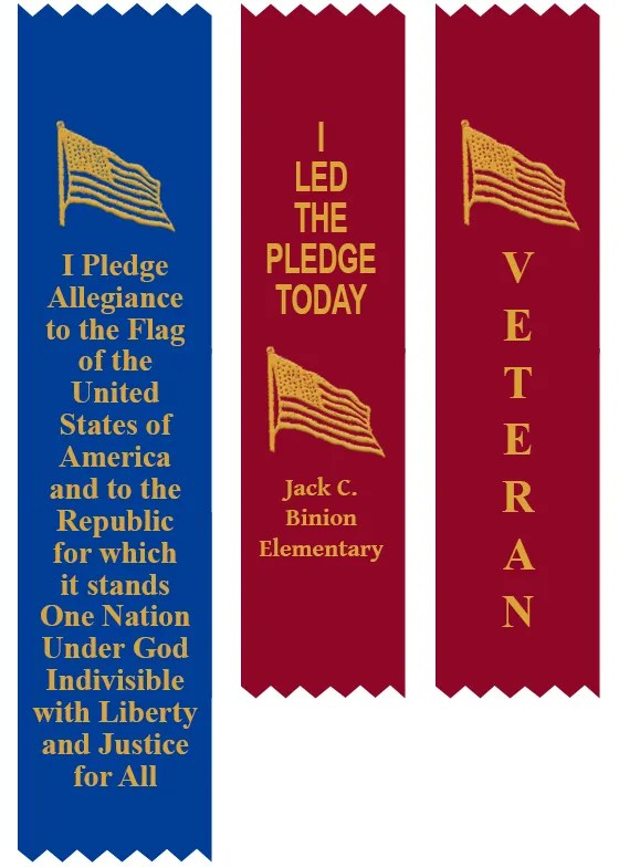 Pledge Allegiance Veterans Day Ribbon