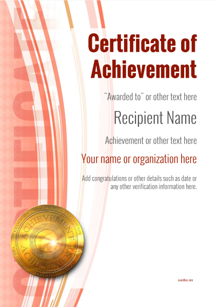 Certificate Of Achievement Free Templates Easy To Use Download Amp Print