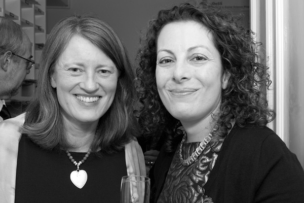 OII Internet and Society Award winner Beth Noveck (at right) with OII Director Helen Margetts.