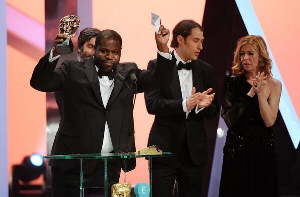 Steve McQueen with 12 Years a Slave's Best Film win