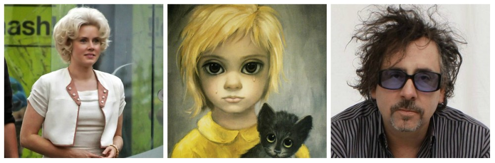 From left; Amy Adams as Margaret Keane, Keane's 'The Waif,' director Tim Burton