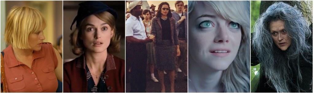 From left; Patricia Arquette, Keira Knightley, Carmen Ejogo, Emma Stone, Meryl Streep